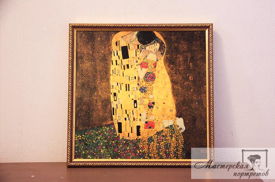 Копия картины маслом Климта - Поцелуй