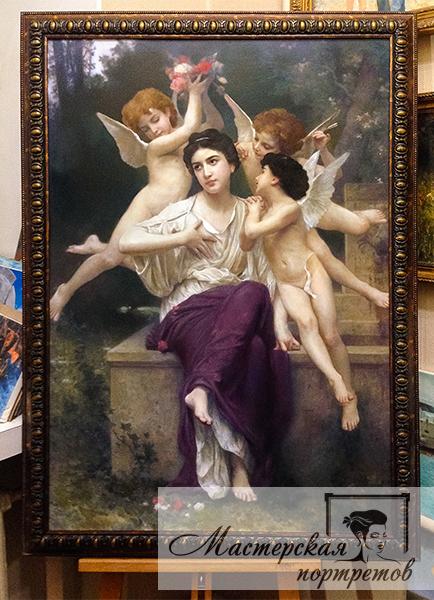 Репродукция картины Адольфа Вильяма Бугро - Мечта о весне