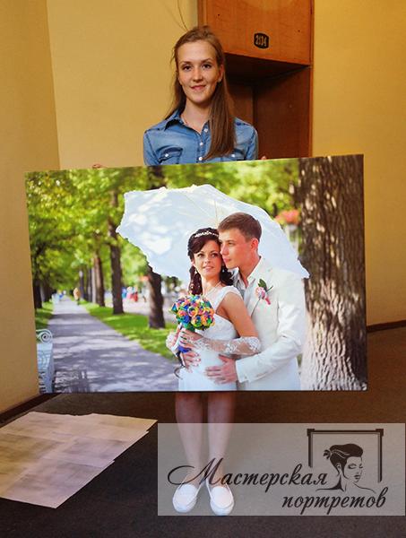 печать фото на холсте на заказ