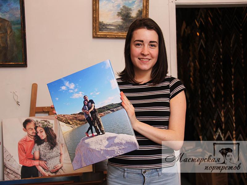 Печать фото на холсте в подарок