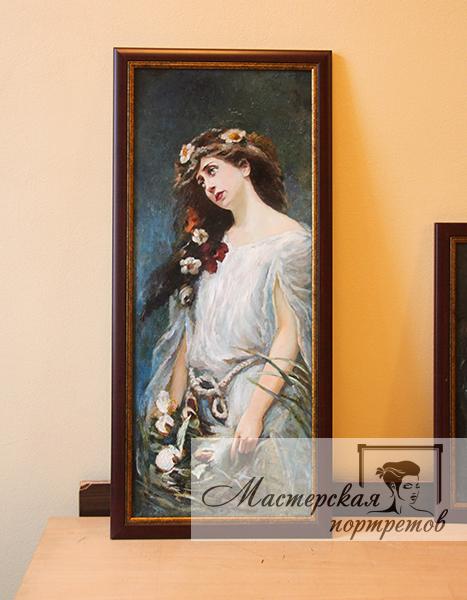 Копия картины маслом Маковского - Офелия