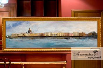 Живопись маслом «Вид на набережную» Санкт-Петербург