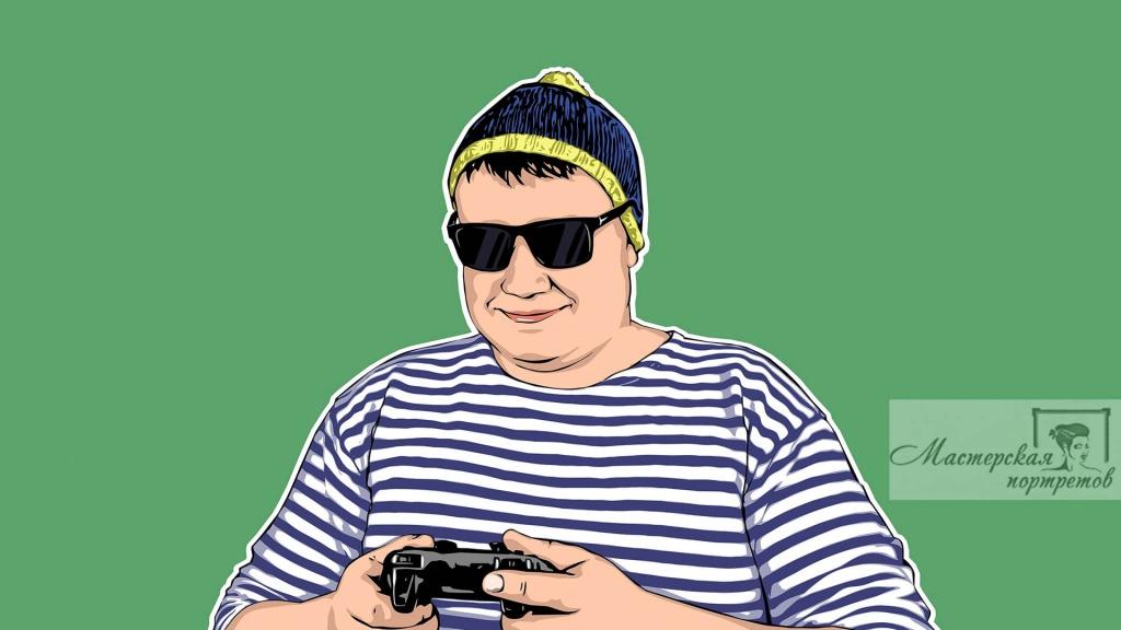 портрет комикс арт