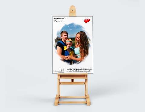 Заказать портрет в стиле love is