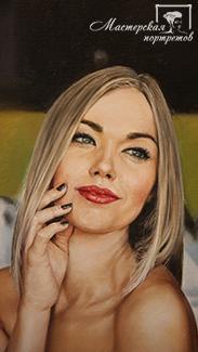 Портрет маслом для девушки