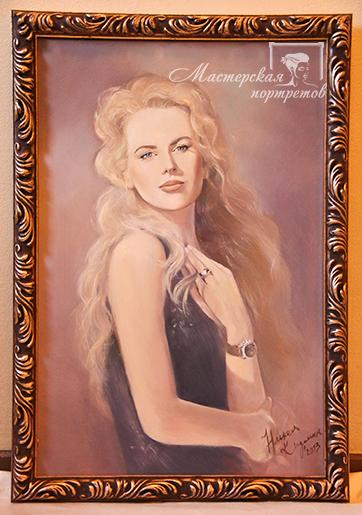 Портрет маслом в багете на заказ