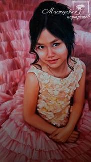 Портрет маслом девочки по фото