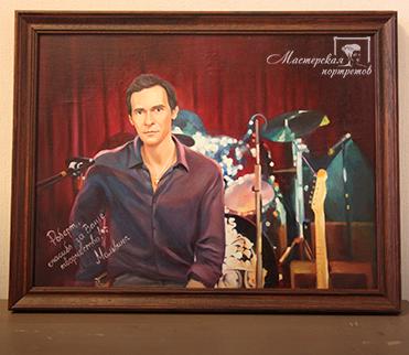 Портрет солиста группы «Браво» Роберта Ленца